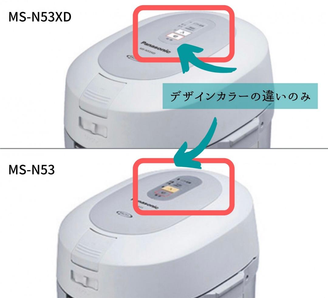MS-N53とN53XDの違い