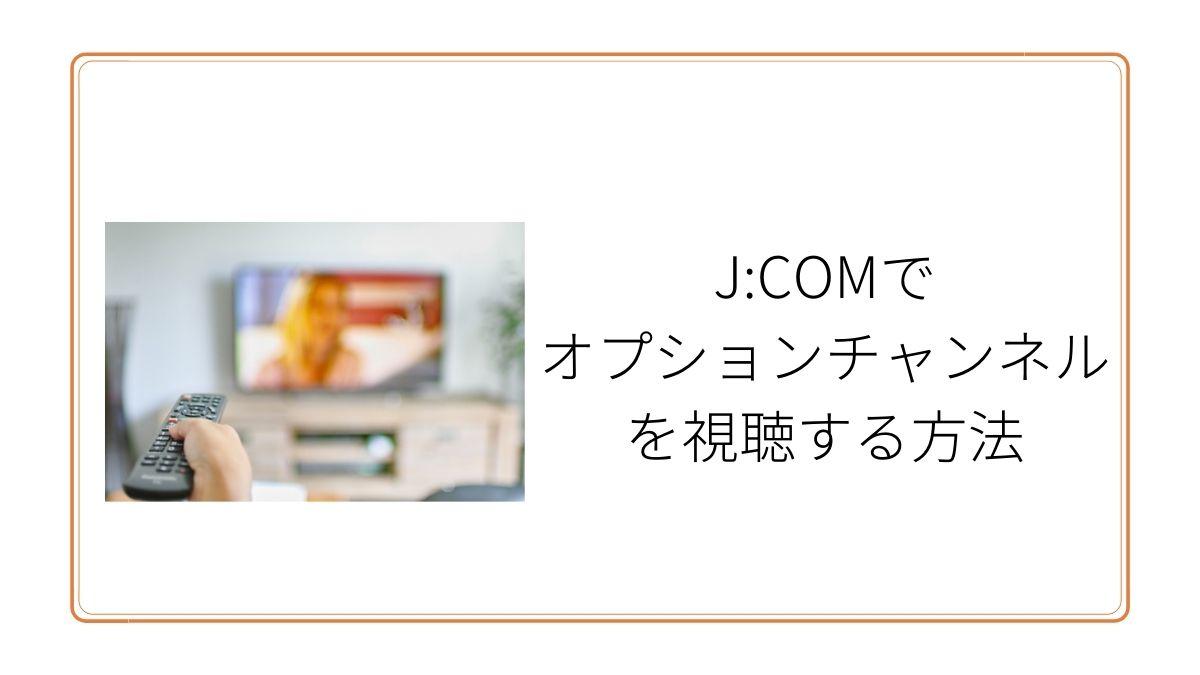 Jcomオプションチャンネル視聴方法