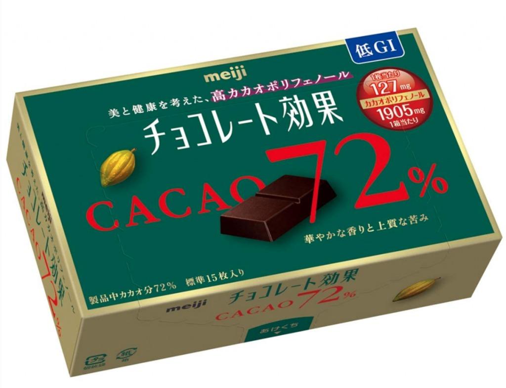 チョコレート効果72%小箱